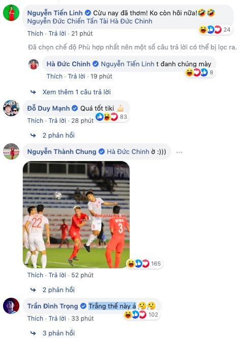 Hải Quế, Tiến Linh trêu Đức Chinh thơm, trắng khi thắng U22 Singapore-2