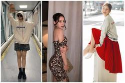 Chi Pu khoe đường cong S-line với đầm bó sát - Min hack tuổi với công thức mix đồ nữ sinh