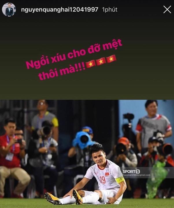 Phản ứng đầu tiên của Quang Hải khi hàng triệu trái tim lo lắng anh phải nghỉ SEA Games-2