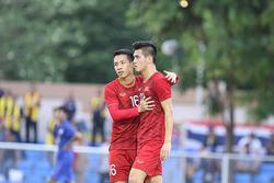 Đồng đội mắc lỗi, Tiến Linh lập tức sửa sai ghi bàn thắng đầu tiên vào lưới U22 Thái Lan