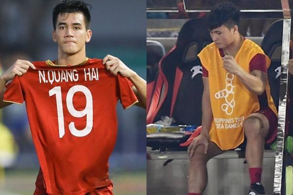 Không thể vào sân thi đấu, Quang Hải được Tiến Linh làm điều đặc biệt ngay trên sân cỏ-1