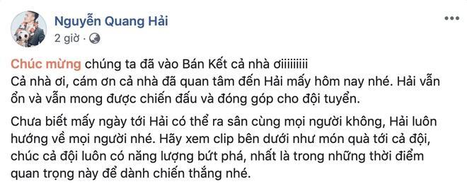Quang Hải cảm ơn đồng đội sau khi được tri ân-2