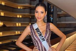 Hoàng Thùy trả lời thông minh khi bị truyền thông quốc tế soi từng cen-ti-met chiếc váy tím lấp lánh
