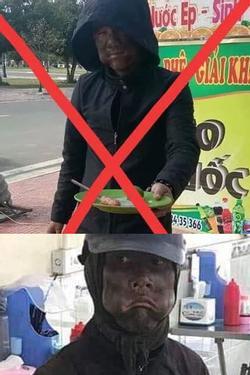Thanh niên tự rước họa vào thân khi 'mặc đồ đen, bôi mặt đen xì' cầm đĩa lạp xưởng chụp ảnh đăng facebook