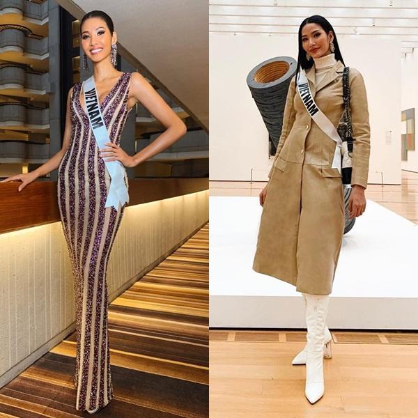 Miss Universe 2019 ngày thứ 8: Hoàng Thùy thay tới 4 bộ đồ mà vẫn có người chịu chơi không kém-2