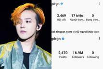 Chưa kịp ăn mừng Instagram cán mốc 17 triệu follow, G-Dragon đã bị fans cho ăn một vố troll cực 'đau'