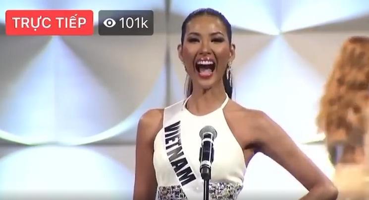 Hoàng Thùy thi bán kết Miss Universe 2019: Chào sân ấn tượng, diễn bikini an toàn, bùng nổ với dạ hội-1