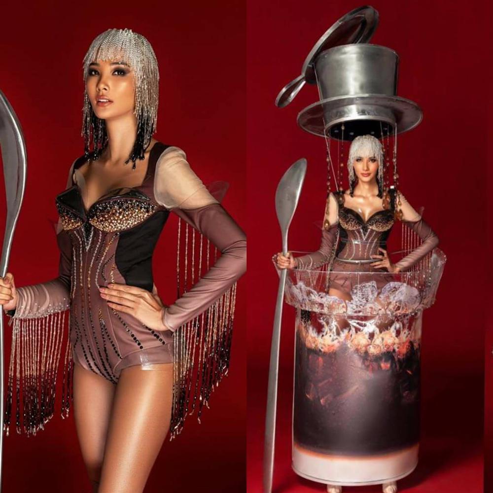 Hoàng Thùy chính thức trình diễn trang phục dân tộc Cafe phin sữa đá tại Miss Universe 2019-9