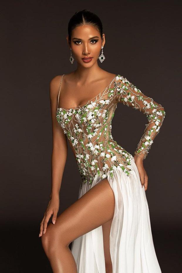 Top 15 trang phục dạ hội ở bán kết Miss Universe: Hoàng Thùy diện đầm hoa giọt tuyết tái hiện cú xoay váy thần thánh-2