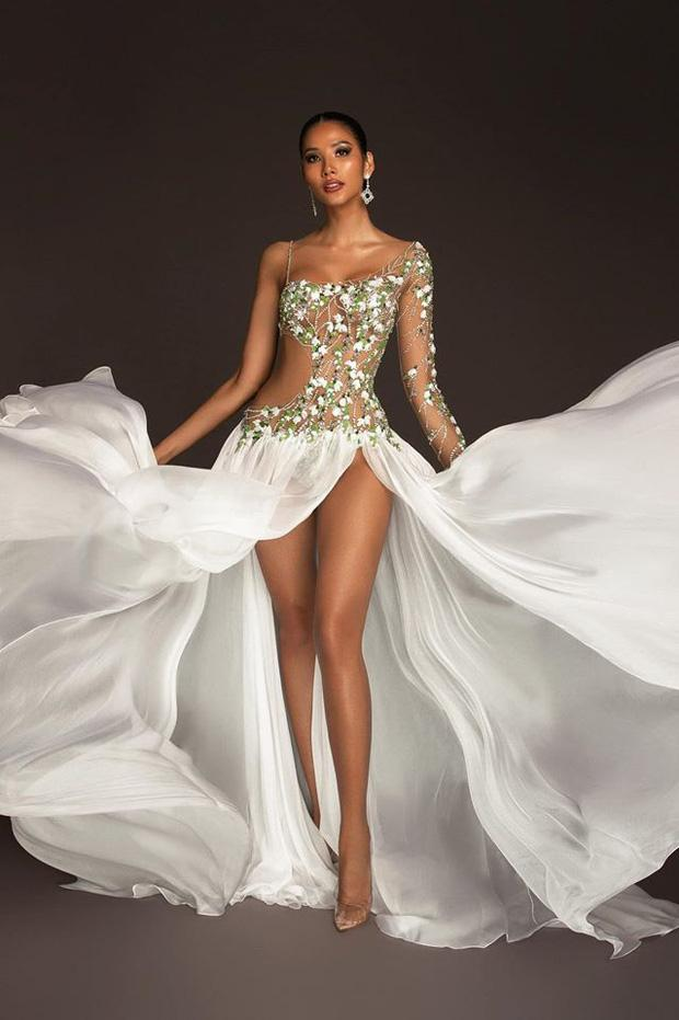 Top 15 trang phục dạ hội ở bán kết Miss Universe: Hoàng Thùy diện đầm hoa giọt tuyết tái hiện cú xoay váy thần thánh-4
