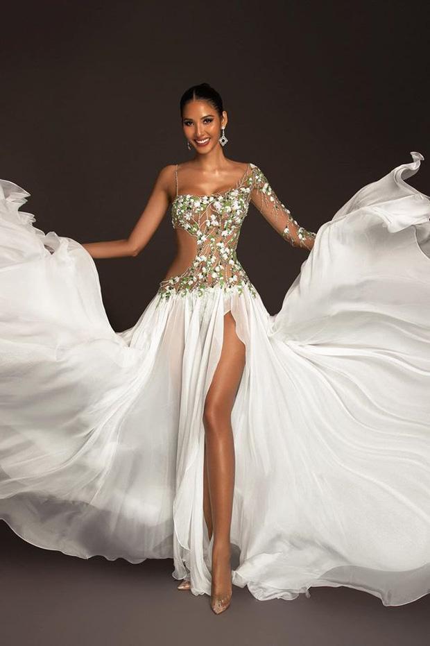 Top 15 trang phục dạ hội ở bán kết Miss Universe: Hoàng Thùy diện đầm hoa giọt tuyết tái hiện cú xoay váy thần thánh-5
