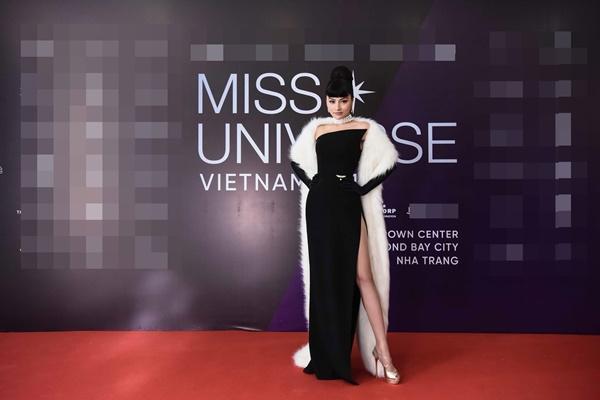 Thảm đỏ chung kết Hoa hậu Hoàn Vũ Việt Nam 2019: Thanh Hằng diện váy cầu vồng không thua kém thiên thần Elsa Hosk-6