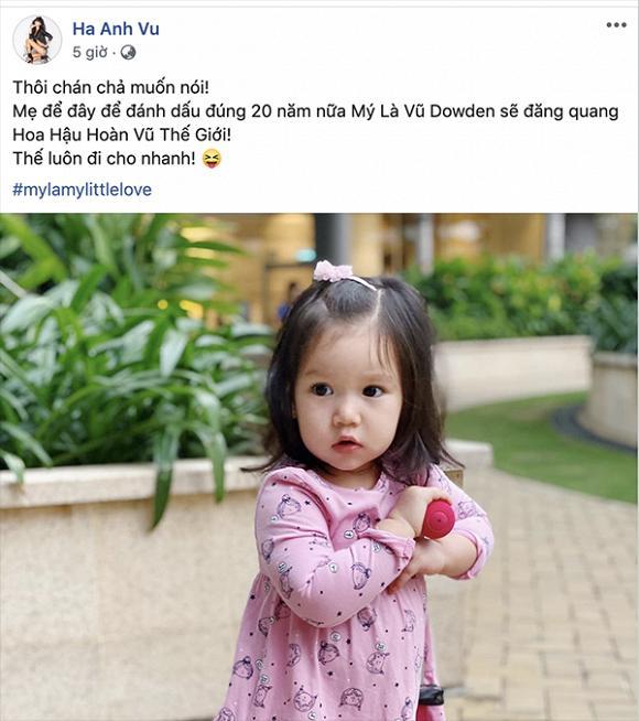 Hà Anh tiết lộ muốn cho con thi hoa hậu, ngầm bất mãn kết quả Hoa hậu Hoàn vũ Việt Nam 2019?-1