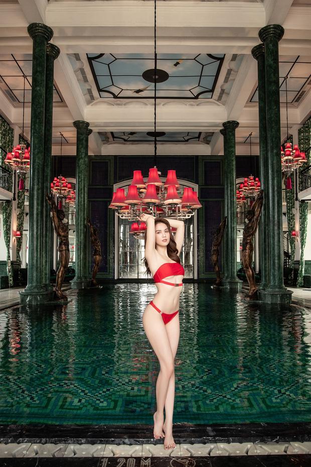 Diện bikini chẳng khác nào nội y, Ngọc Trinh thông báo vòng eo đạt ngưỡng 55cm-3