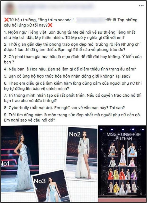 Nghi vấn thí sinh biết trước câu hỏi ứng xử tại Hoa hậu Hoàn vũ 2019-2