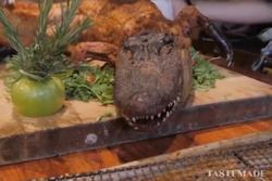 Cá sấu nướng nguyên con - đặc sản nổi tiếng ở Mỹ
