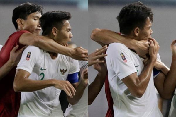 Lại lan truyền khoảnh khắc Văn Hậu dùng công phu kẹp cổ cầu thủ Campuchia để bảo vệ Thành Chung-3