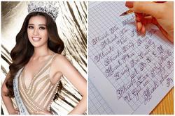 Chữ viết tay đẹp như đánh máy của Hoa hậu Khánh Vân