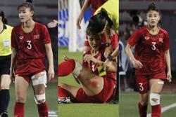 Thắng thuyết phục Thái Lan, hình ảnh cầu thủ nữ Việt Nam rách đùi, chân băng chằng chịt làm fans xót xa