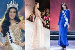 Thắng giải áo dài tại liên tiếp 3 cuộc thi nhan sắc, hoa hậu Khánh Vân diện Quốc phục Việt đẹp tới cỡ nào?