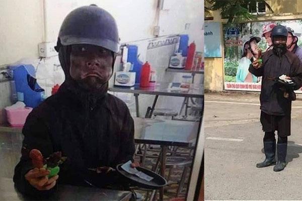 Ăn mày mặt đen xuất hiện ở trường, học sinh Hà Nội lo sợ-1