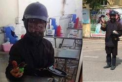 'Ăn mày mặt đen' xuất hiện ở trường, học sinh Hà Nội lo sợ