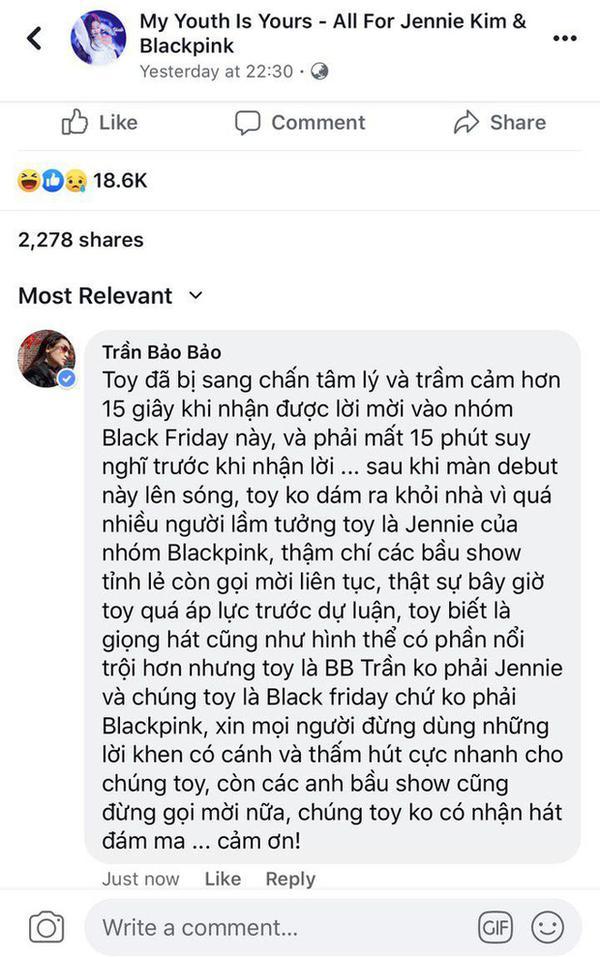 BB Trần van nài bầu sô ngưng mời đi hát đám ma sau màn cosplay Jennie phiên bản đô con-4
