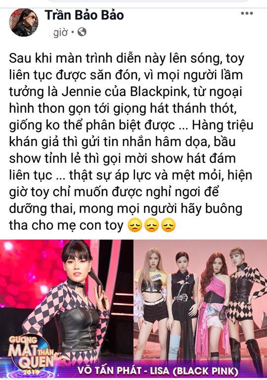 BB Trần van nài bầu sô ngưng mời đi hát đám ma sau màn cosplay Jennie phiên bản đô con-3