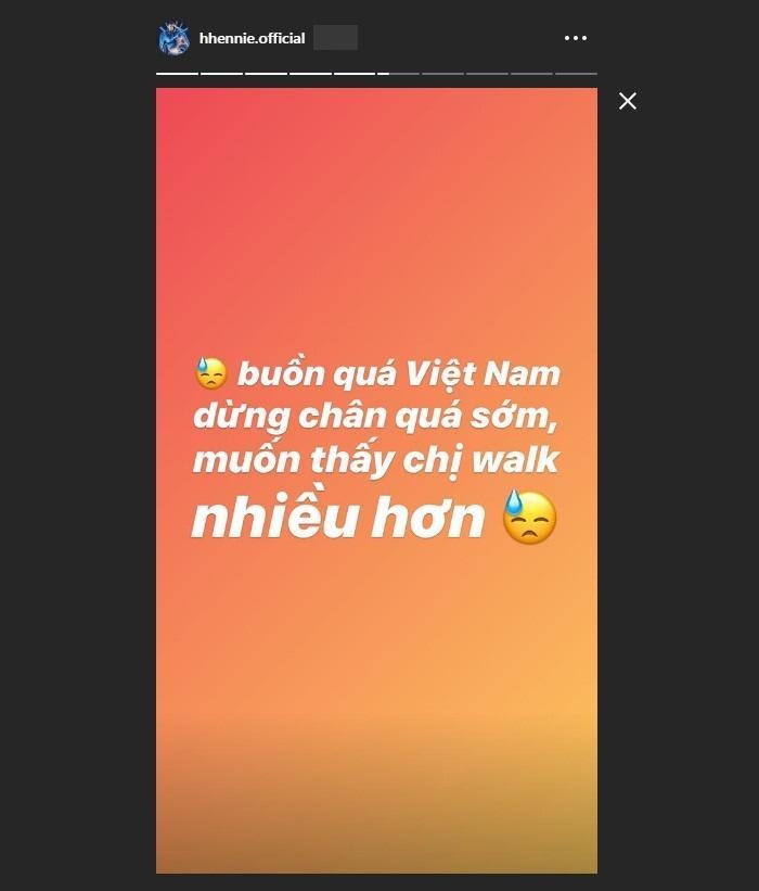 Hoàng Thùy lọt top 20 Miss Universe 2019, HHen Niê thở dài: Buồn quá! Em muốn thấy chị walk nhiều hơn-2