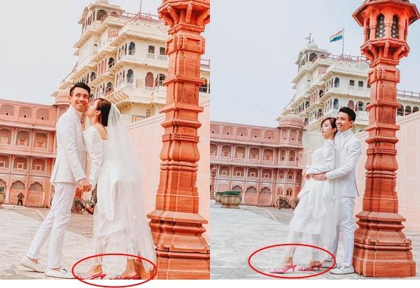 Sang tận Ấn Độ chụp ảnh cưới nhưng đôi guốc ngoại cỡ của vợ hai Minh Nhựa mới giật mọi spotlight-1