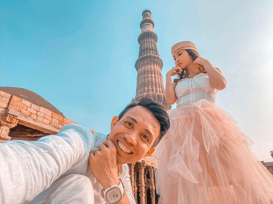 Sang tận Ấn Độ chụp ảnh cưới nhưng đôi guốc ngoại cỡ của vợ hai Minh Nhựa mới giật mọi spotlight-5