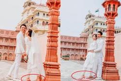 Sang tận Ấn Độ chụp ảnh cưới nhưng đôi guốc ngoại cỡ của vợ hai Minh Nhựa mới giật mọi spotlight