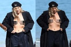 Siêu mẫu Anh gây tranh cãi khi diện mốt không nội y, lộ ngực chụp hình