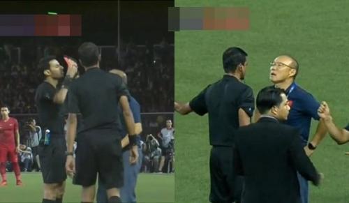 Nhận thẻ đỏ trực tiếp, khoảnh khắc cãi tay đôi cưng muốn xỉu của thầy Park với trọng tài giật mọi spotlight-3
