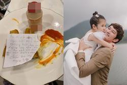 Huy Khánh đáp trả khi con gái 7 tuổi bị chê không ý tứ, dành đồ ăn thừa cho ba