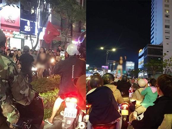MXH dậy sóng hình ảnh cô gái trẻ lấy cớ mừng chiến thắng U22 Việt Nam, lột đồ phản cảm giữa đường-2
