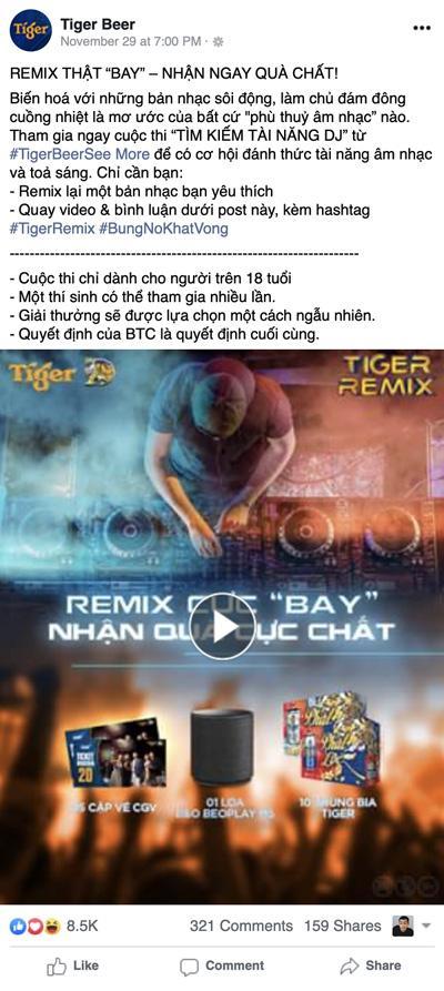Sân chơi Tìm kiếm tài năng âm nhạc - Tiger Remix 2020 càn quét từ Bắc vào Nam-1