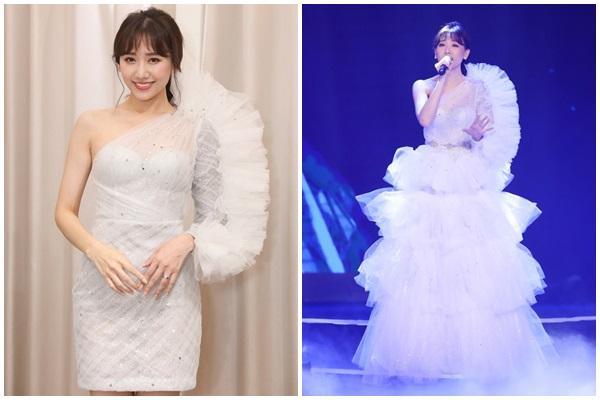 Tiết kiệm kiểu Chi Pu, Hari Won, Hồ Ngọc Hà: Tận dụng váy 2 in 1 biến hóa xuất sắc trên sân khấu-2