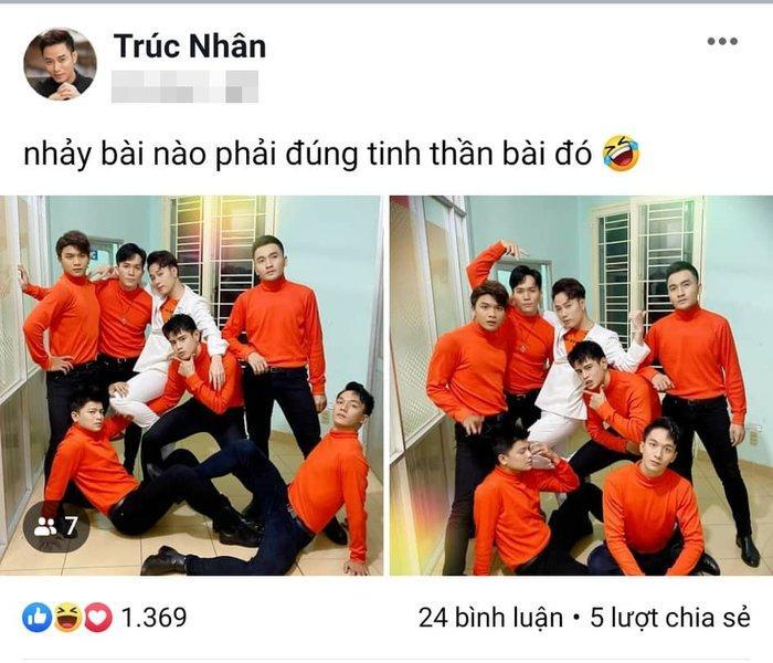 Chụp ảnh đầy thần thái cùng vũ đoàn, Trúc Nhân bị Jun Phạm nhận xét như đi bán… nước cam-1