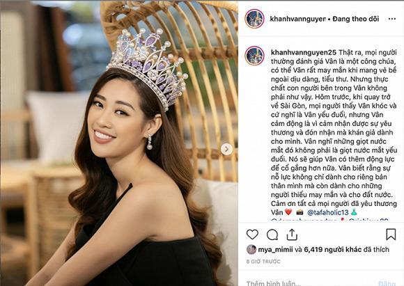 Hoa hậu Khánh Vân lần đầu trần tình điều này với công chúng-1