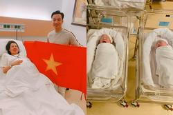 Thích thú ngắm quý tử sinh đôi mới chào đời của MC Thành Trung