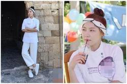 'Hoàng hậu Ki' Ha Ji Won lại khiến fan mê mẩn bởi khoảnh khắc chụp lén quá đỗi xinh đẹp