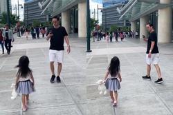 Ông xã Tăng Thanh Hà bám đuổi săn ảnh con gái chẳng khác nào fan cuồng