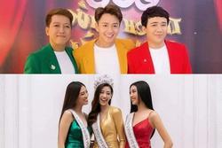 Bị chê ăn mặc giống đèn giao thông, Ngô Kiến Huy mang ngay top 3 hoa hậu ra chứng minh mình không 'dị'