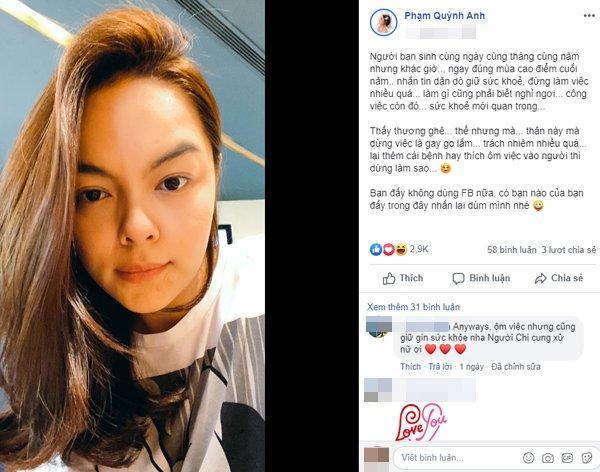 Xuất hiện với mặt mộc nhợt nhạt, mụn nổi lung tung, Phạm Quỳnh Anh khiến fans lo lắng-1