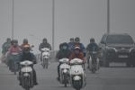 Ô nhiễm không khí tăng cao, các ngả đường Hà Nội mịt mờ