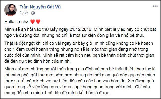 Tim đường đột thông báo làm lễ ăn hỏi sau 1 năm ly hôn Trương Quỳnh Anh-2