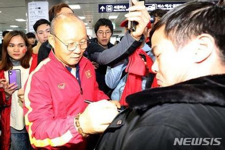 Giúp U22 Việt Nam vô địch SEA Games, thầy Park được chào đón nồng nhiệt tại Hàn Quốc