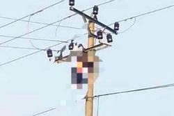 Người đàn ông chết treo trên đường điện 35 KV