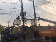Sau tiếng nổ như pháo, trạm biến áp ở Sài Gòn bốc cháy dữ dội